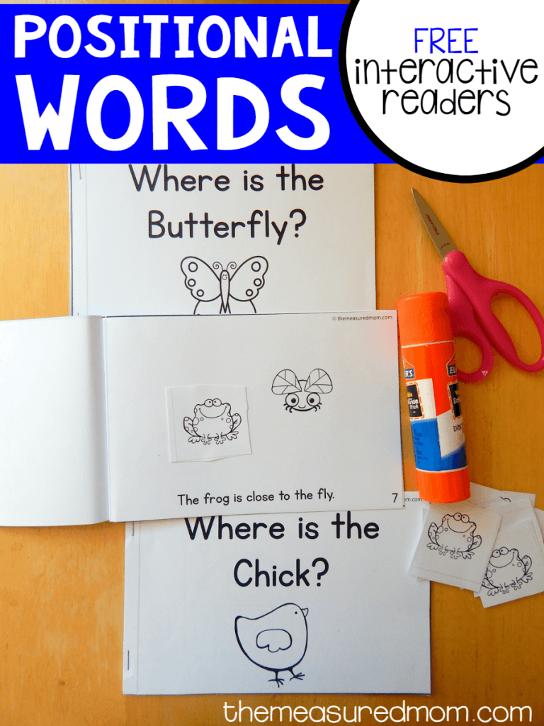 positional words interactive readers