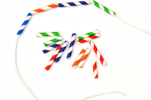 Paper Straw Necklace Craft