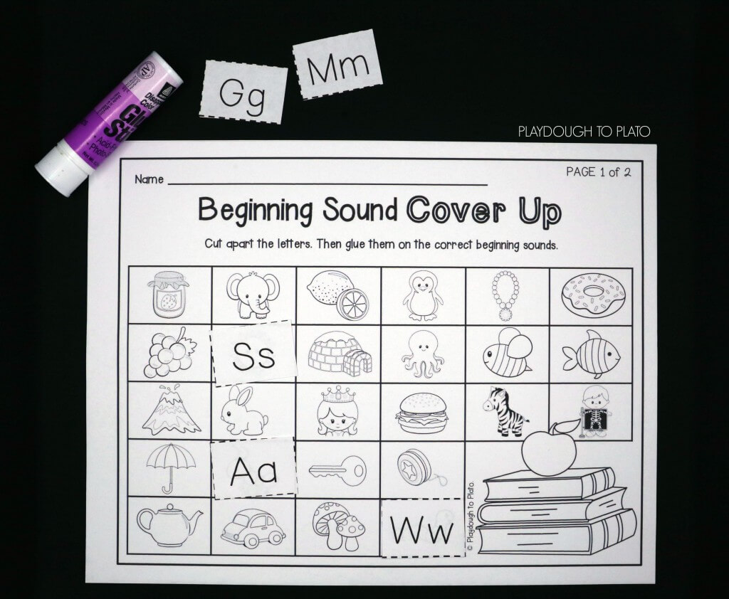 Cut apart the letters and glue them on the correct beginning sound.