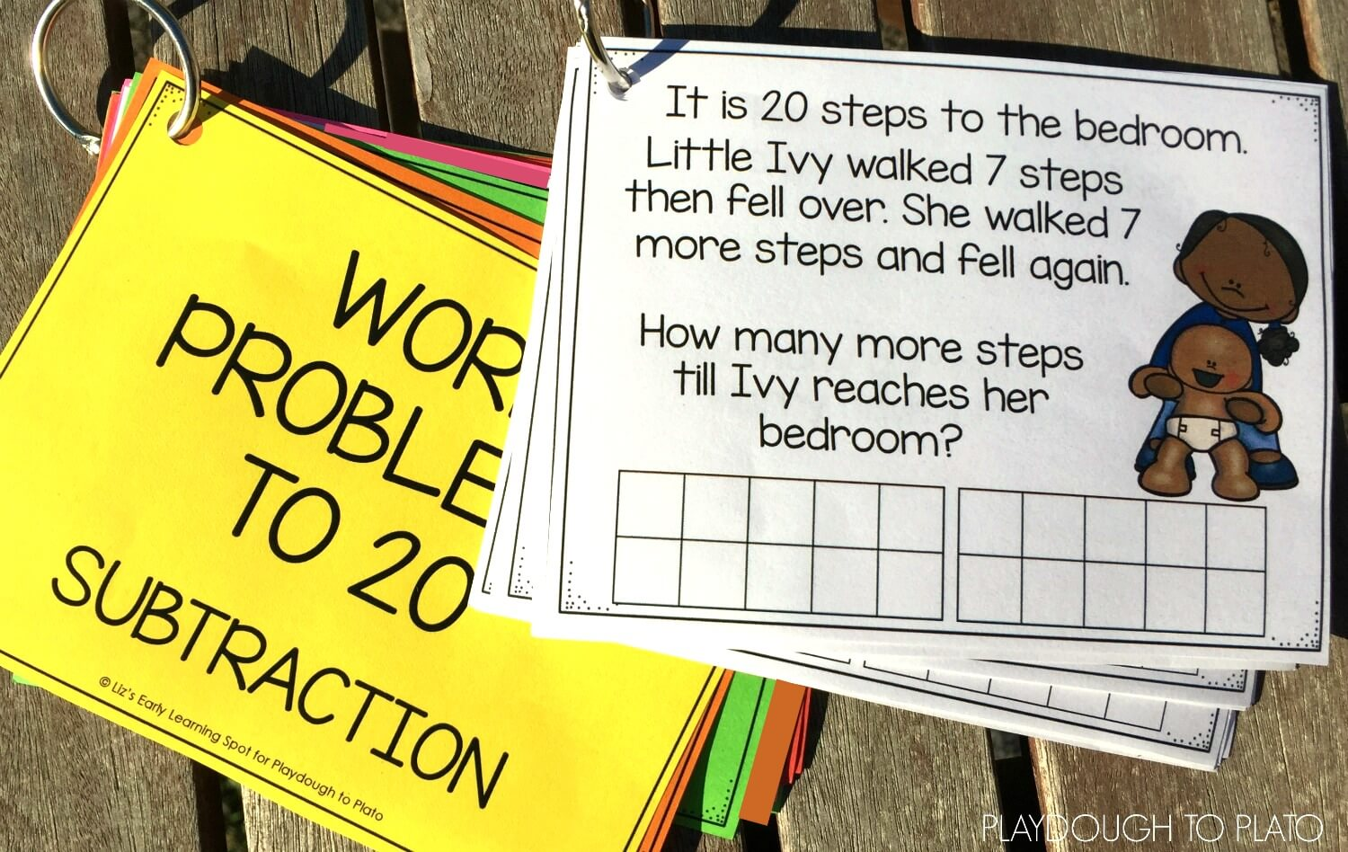 Subtraction Word Problems to 20 - Playdough To Plato