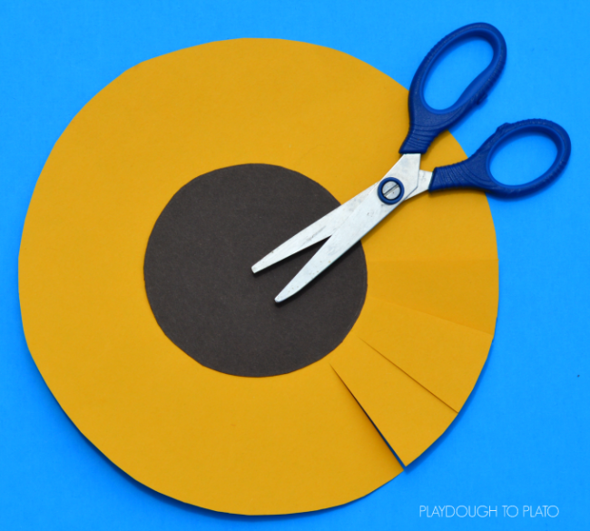 This Paper Sunflower Craft Is A Great For Kids To End The Summer And Start