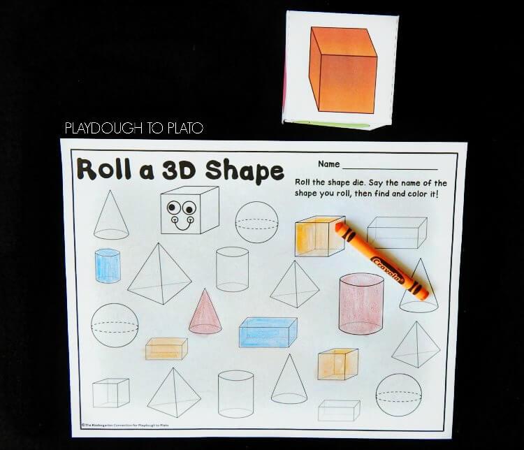roll a 3d shape 1