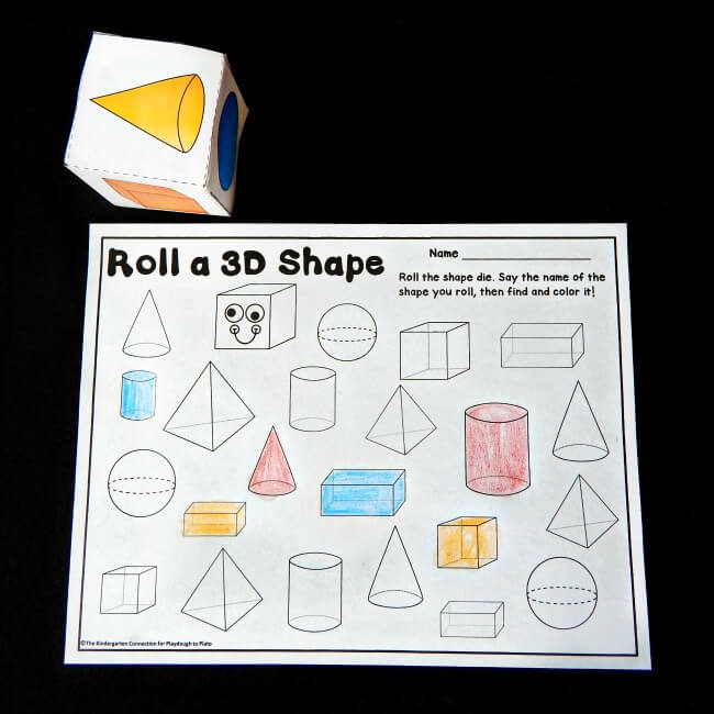 Free Home Design Create Play Educational Quiz Games: Roll And Color 3D Shapes