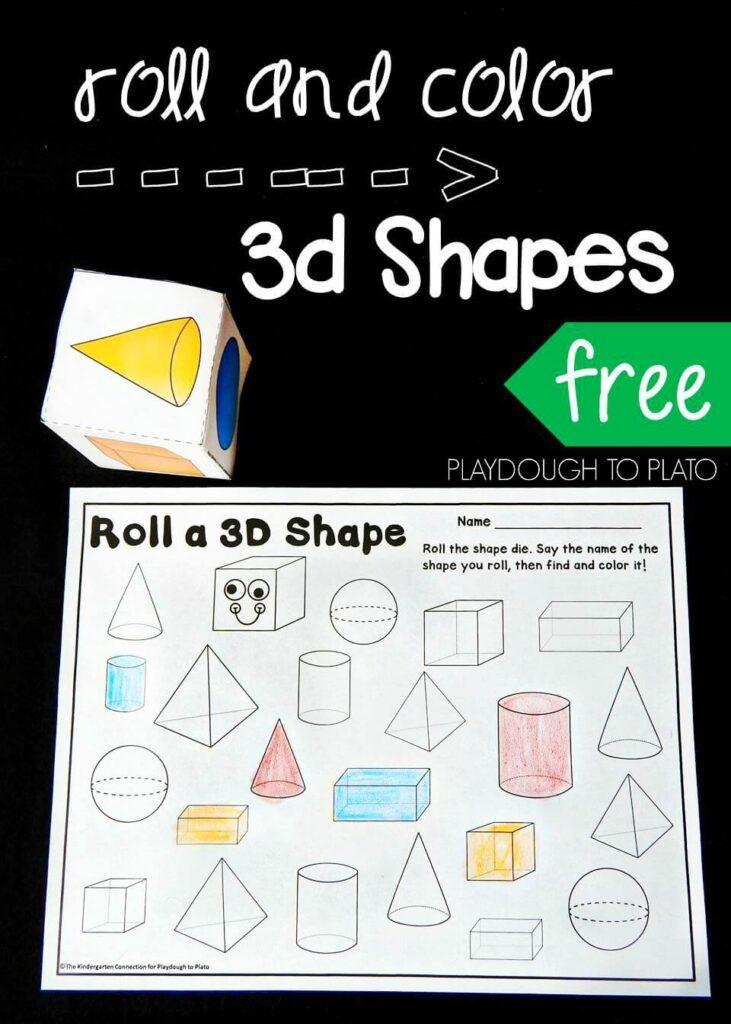 roll a 3d shape pin