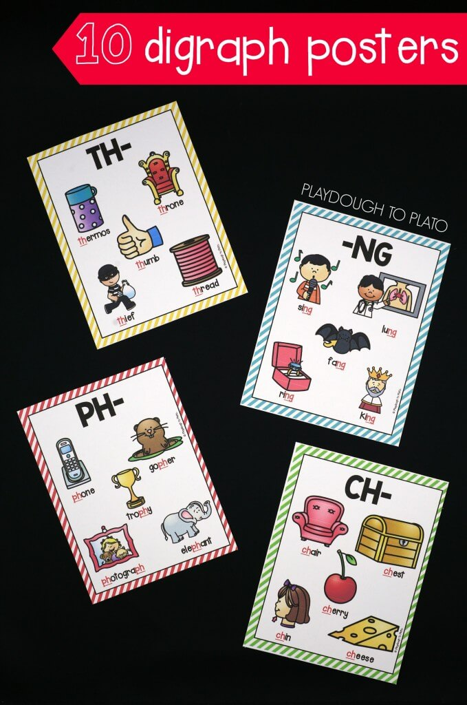 10 colorful digraph posters