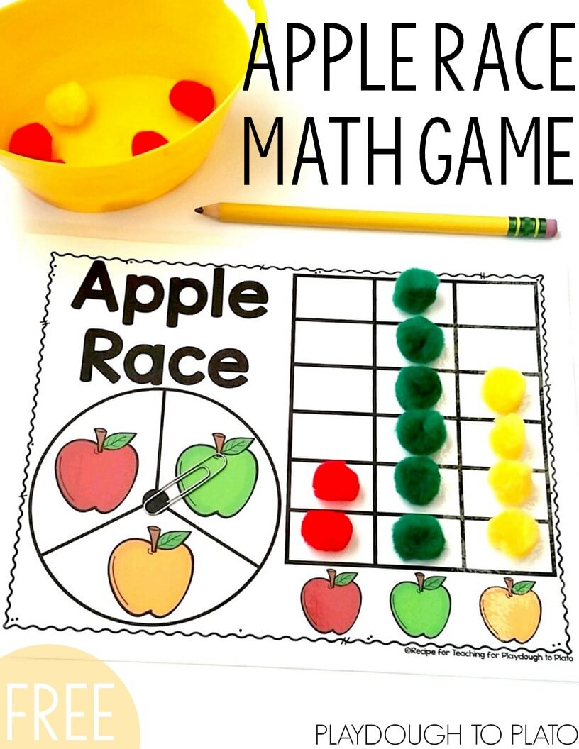 Apple Race Math Game