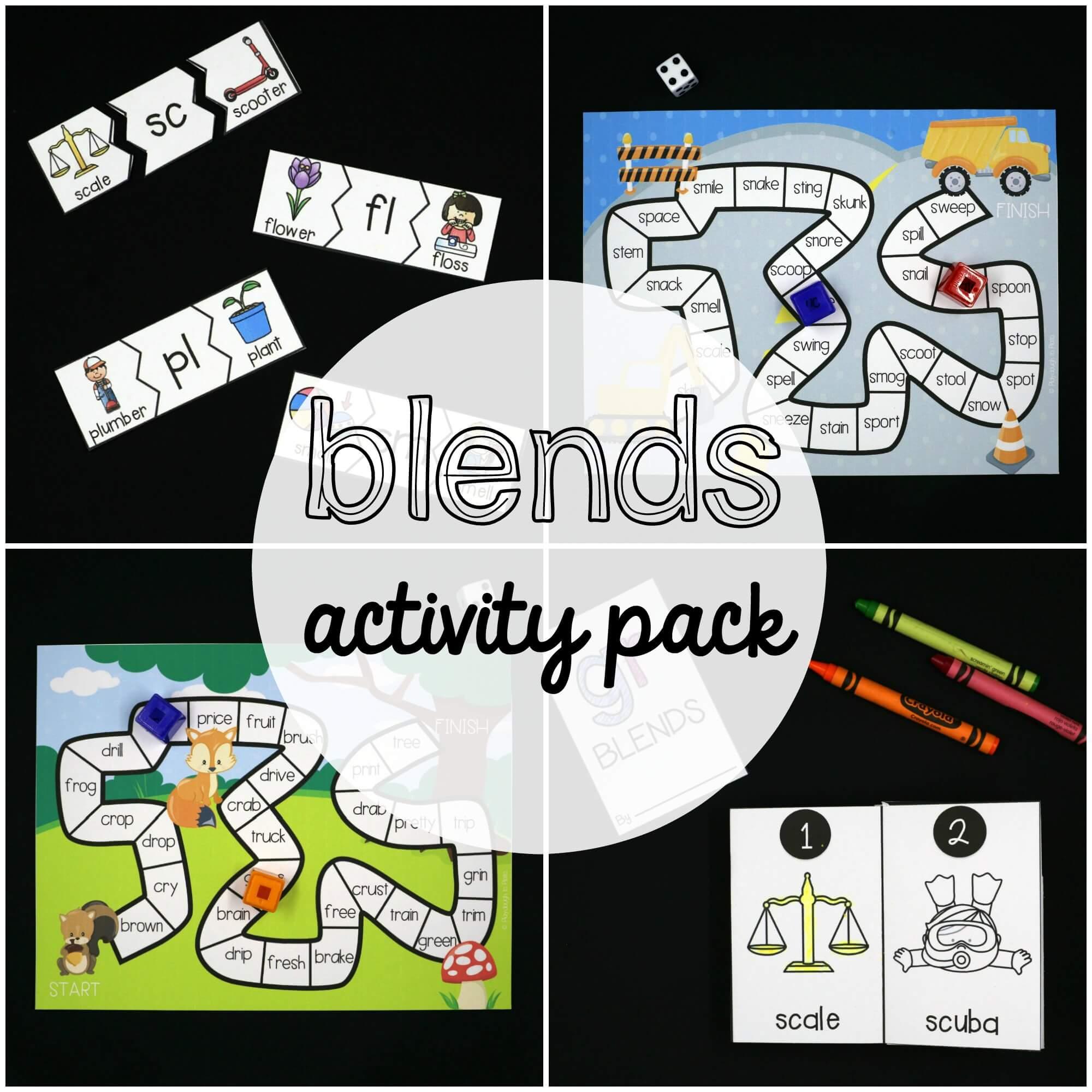 Blends Activity Pack - Playdough To Plato