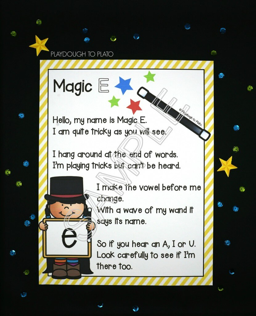 Memorable magic E poster for kids!