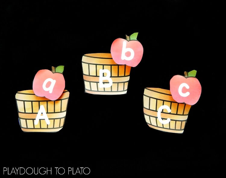 apple alphabet match 1