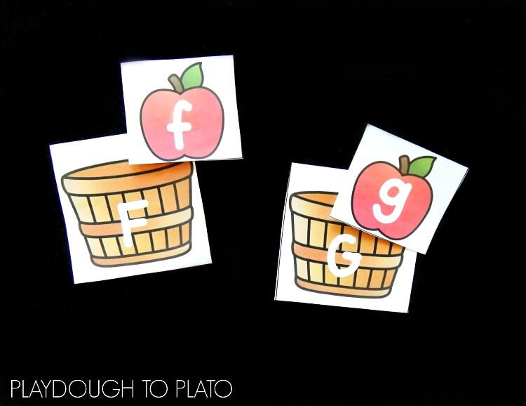 apple alphabet match 2