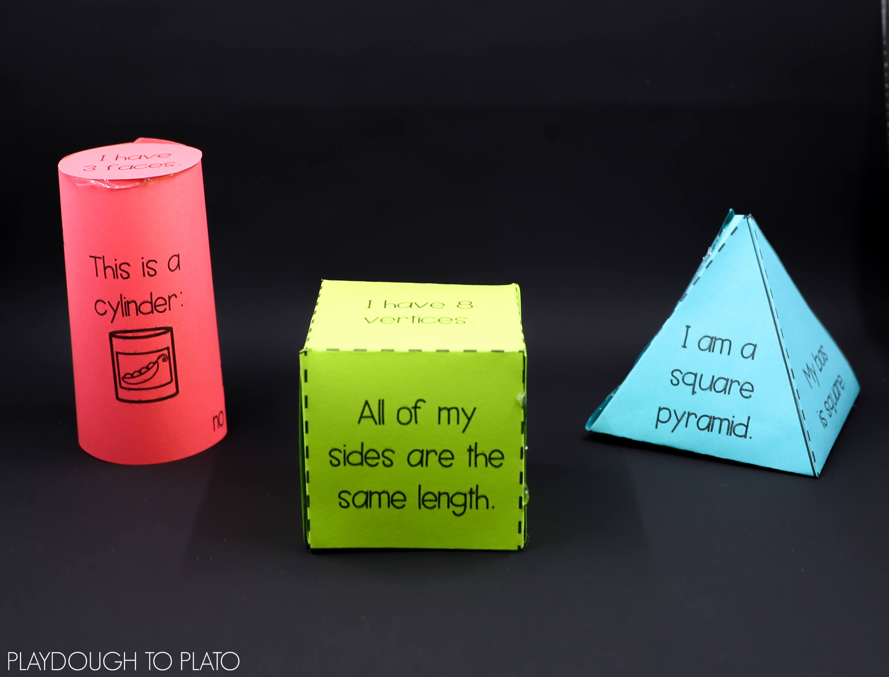 3D Shapes Activity Pack - Playdough To Plato