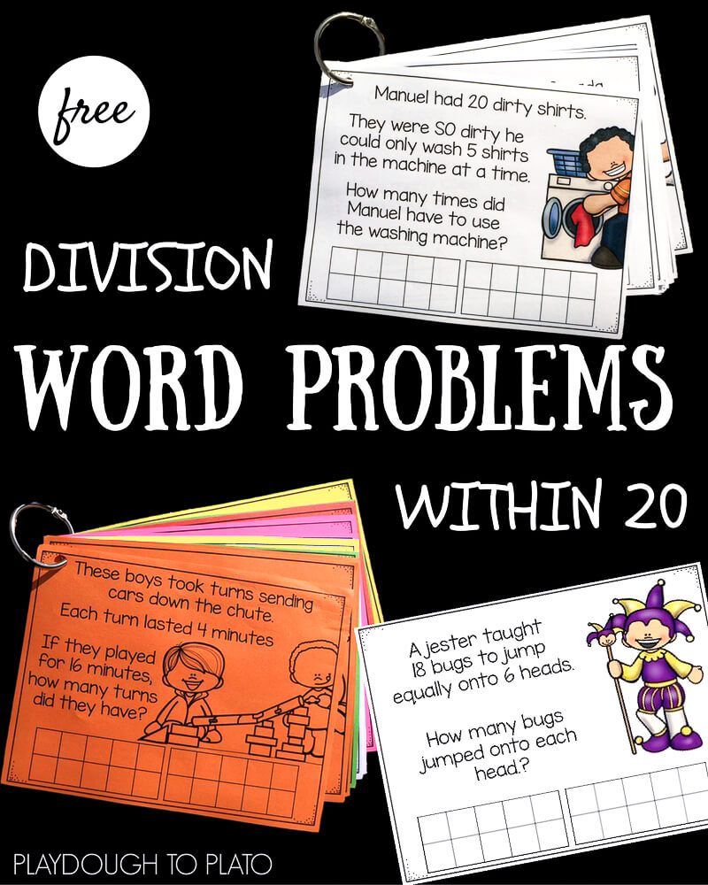Division Word Problems within 20