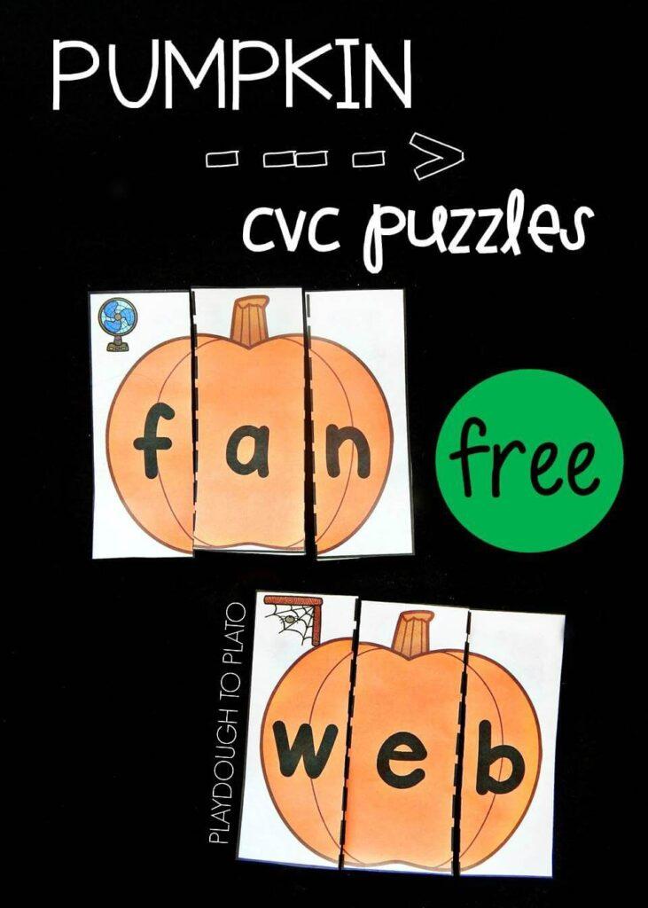 Pumpkin CVC puzzles pin