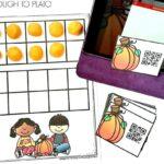 Pumpkin QR Code Cards 1-20
