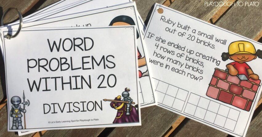 Find fun division word problem cards for free on this post!