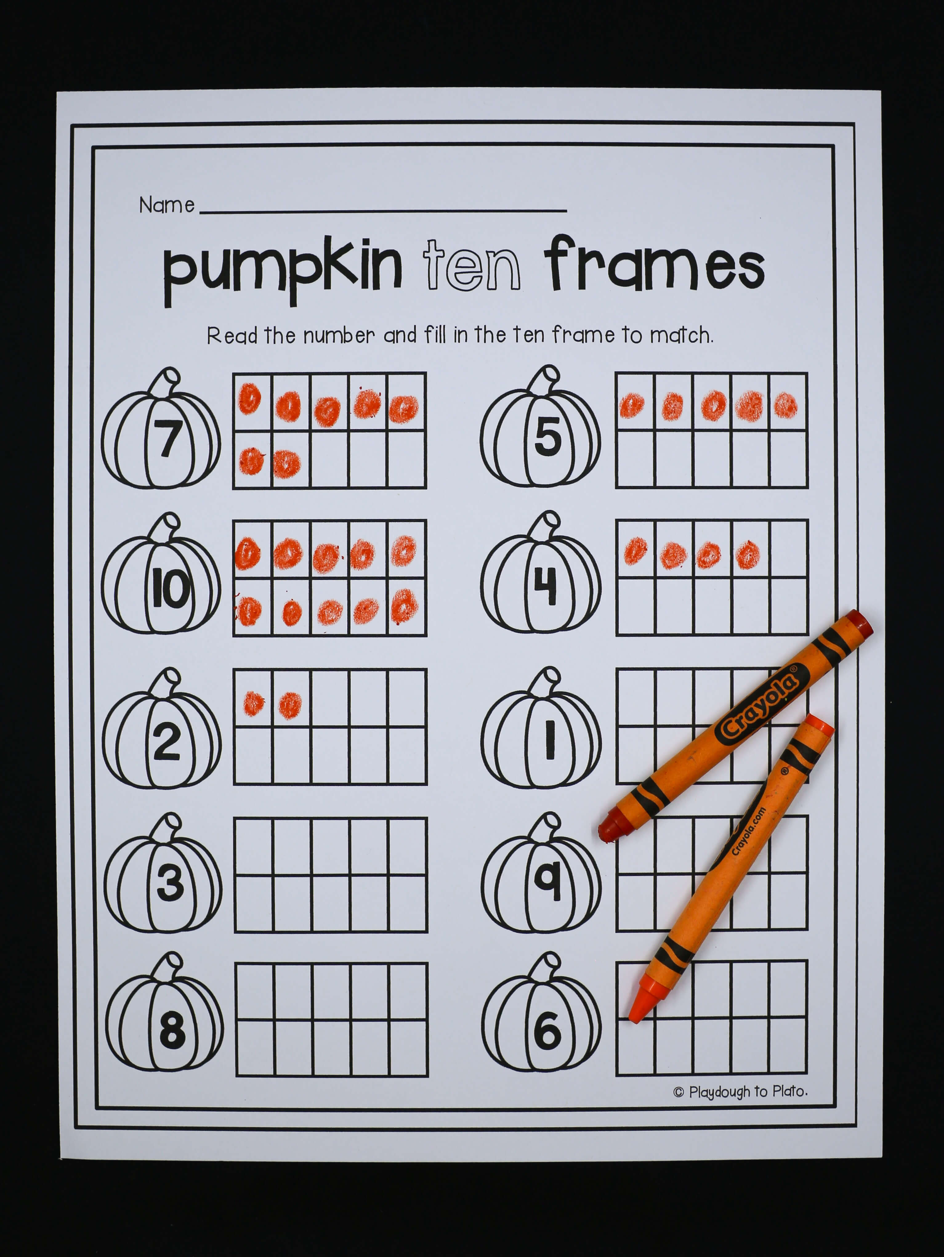 Pumpkin Activity Packet - Playdough To Plato