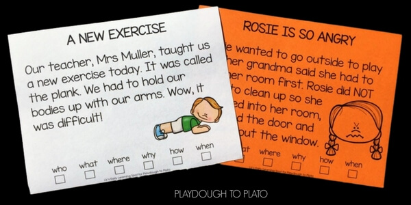 Use these free activity cards to practice close reading!