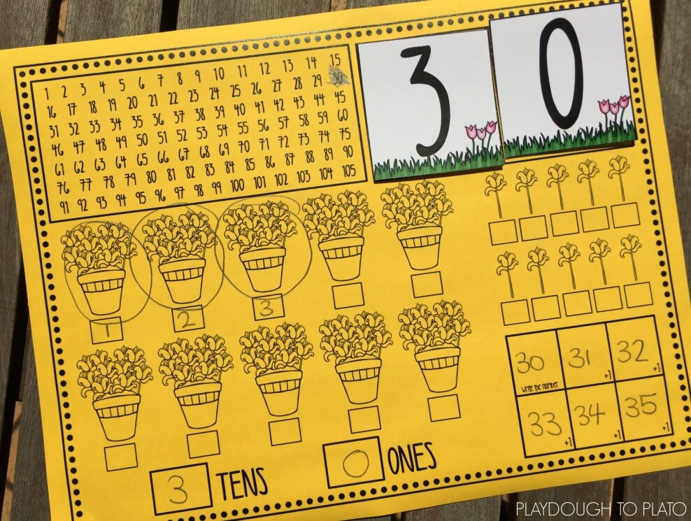 Practice place value, counting on and numbers to 100 with this free activity.
