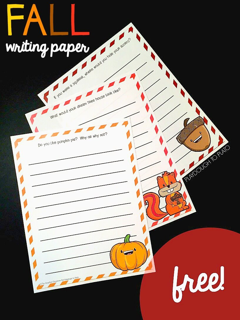 Fall Writing Pages