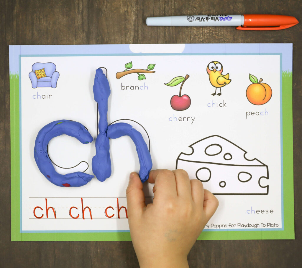Free digraph playdough mats!