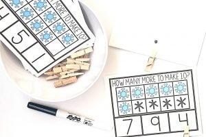 Snowflake Making Ten Clip Cards