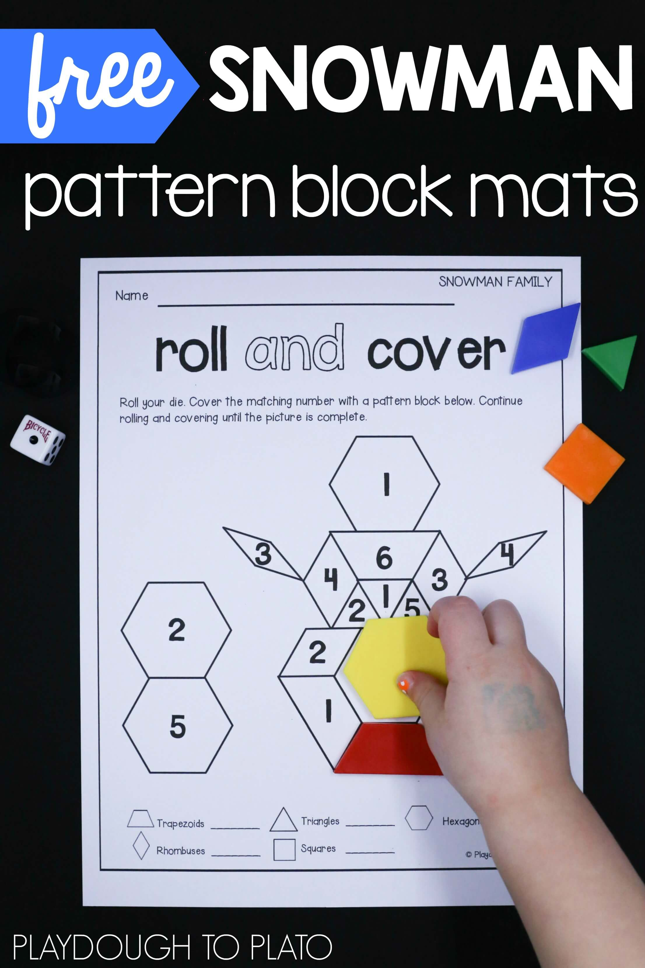 Pattern Block Mats Custom Design
