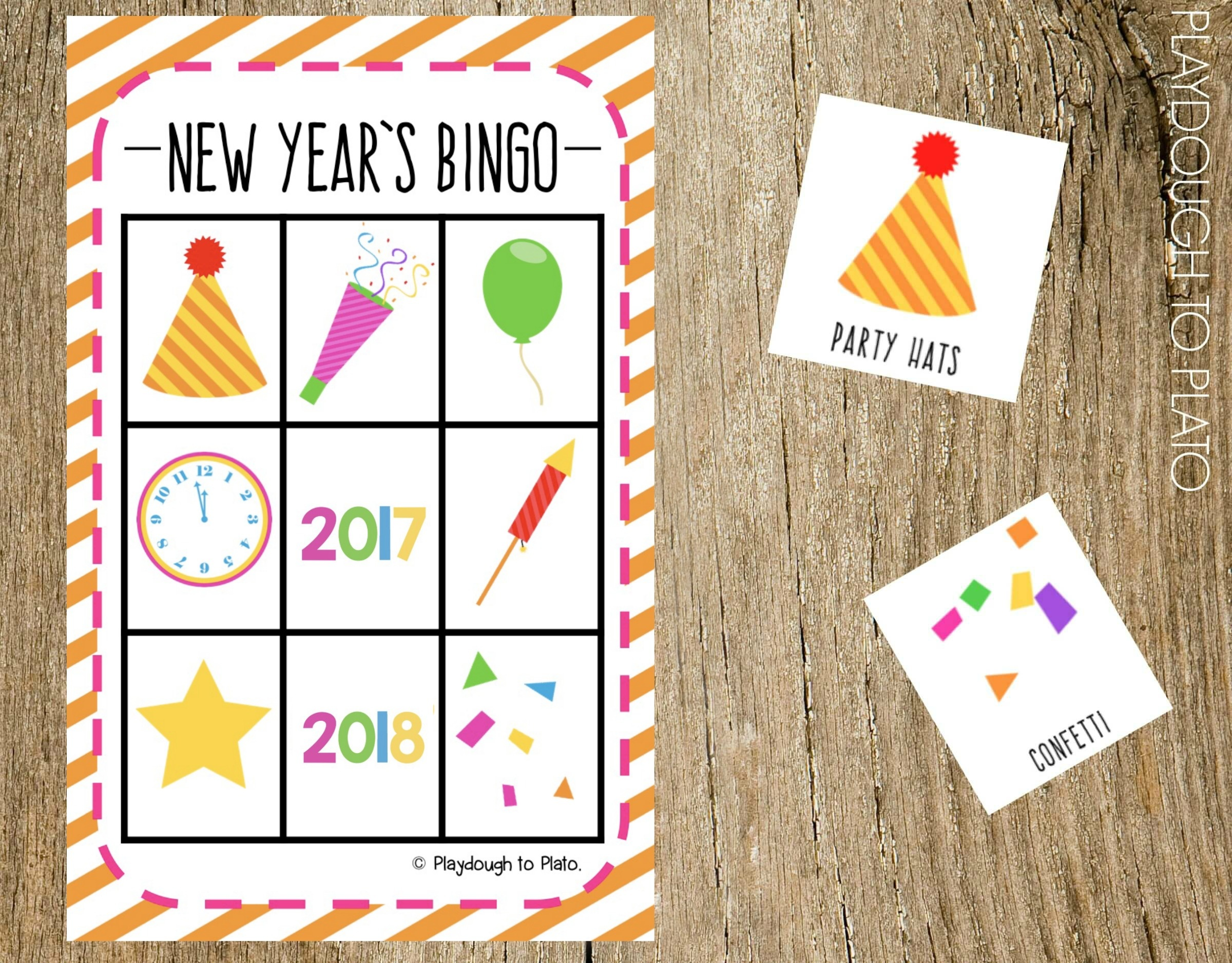 New Years Eve Bingo Playdough To Plato
