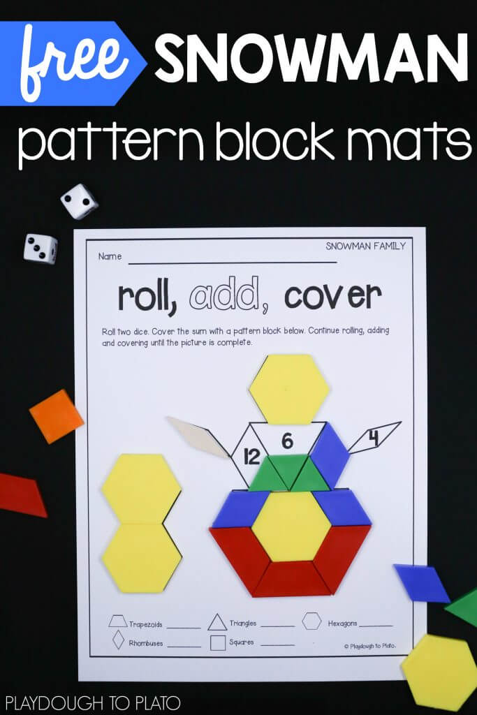 free-snowman-pattern-block-mats