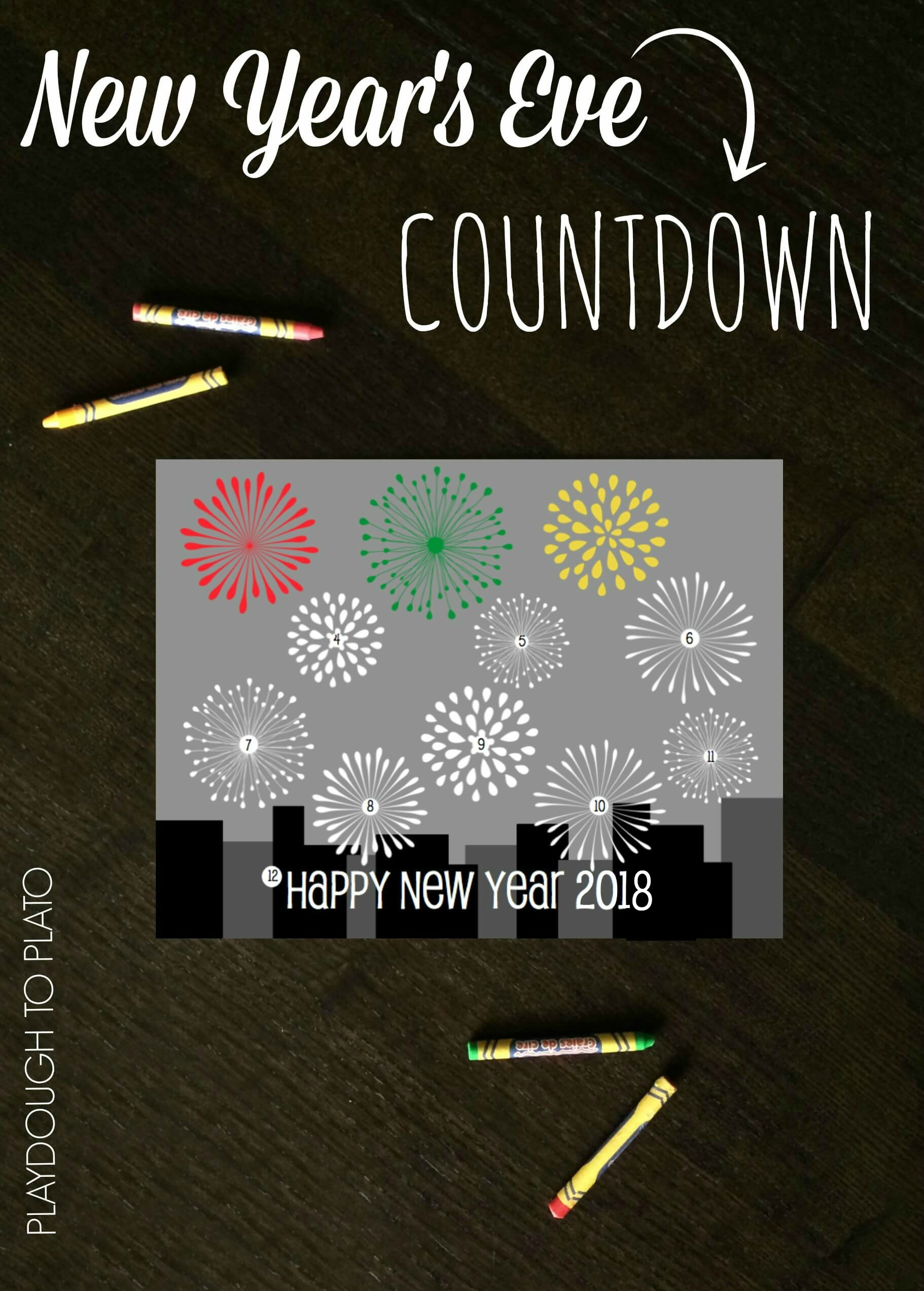 new year u0027s eve countdown coloring sheet playdough to plato