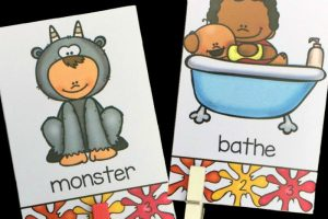 Self-Checking Syllable Clip Cards