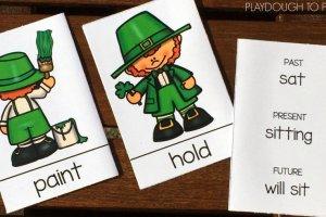 St. Patrick's Verb Tense Cards