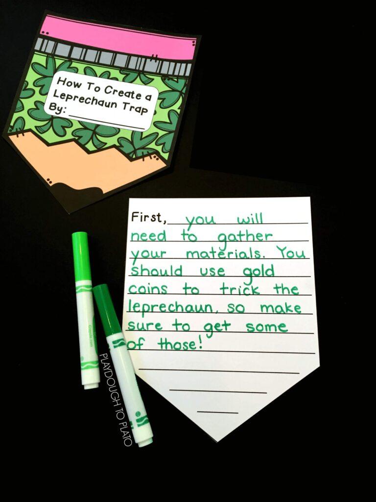 How To Create A Leprechaun Trap Writing Activity