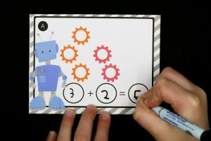 Robot Addition Cards