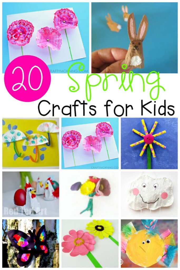 Celebrate the return of warmer weather by making these adorable spring crafts with preschoolers, kindergartners, and elementary kids!