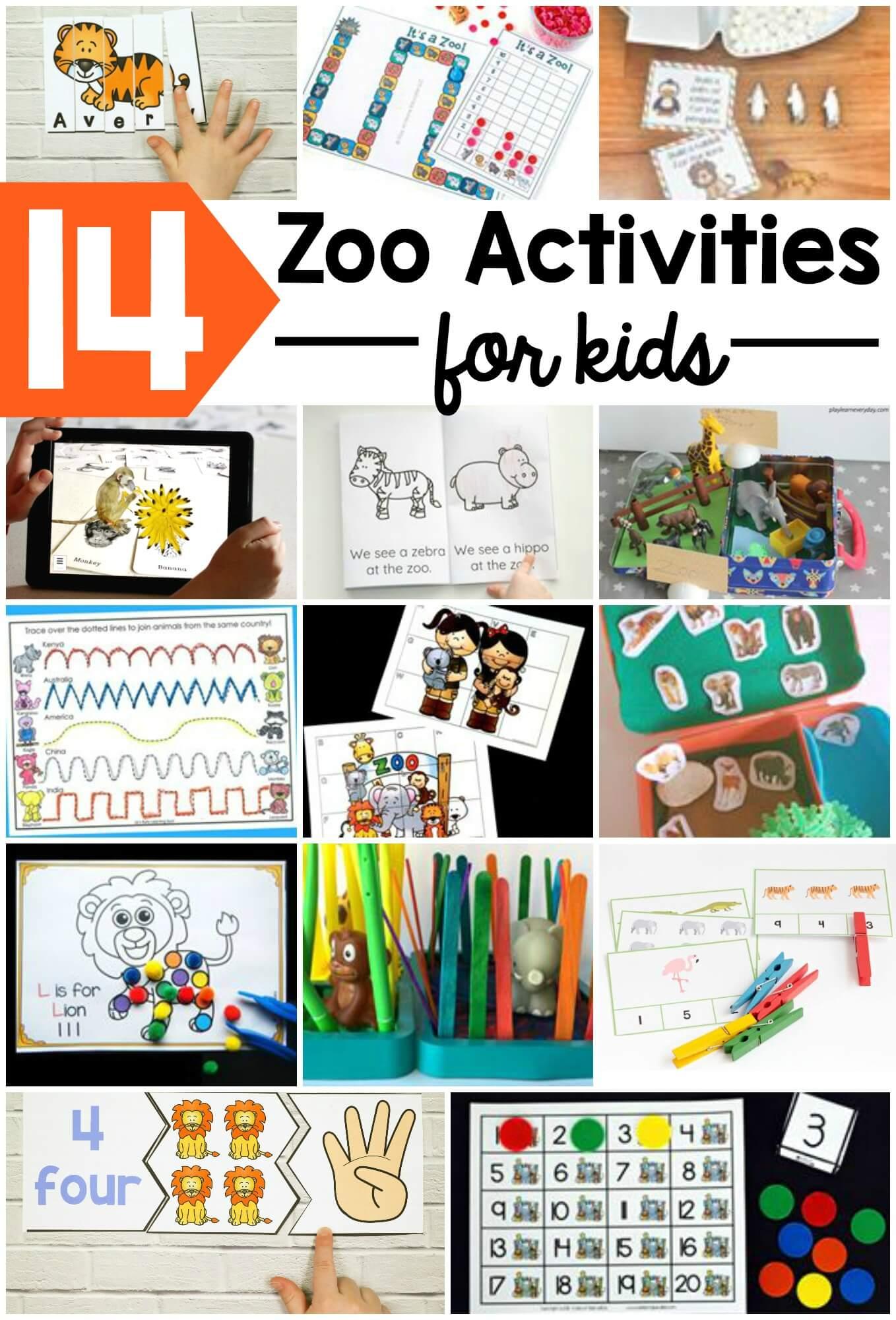 zoo name puzzles playdough to plato