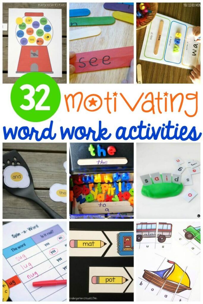 Fun word work centers