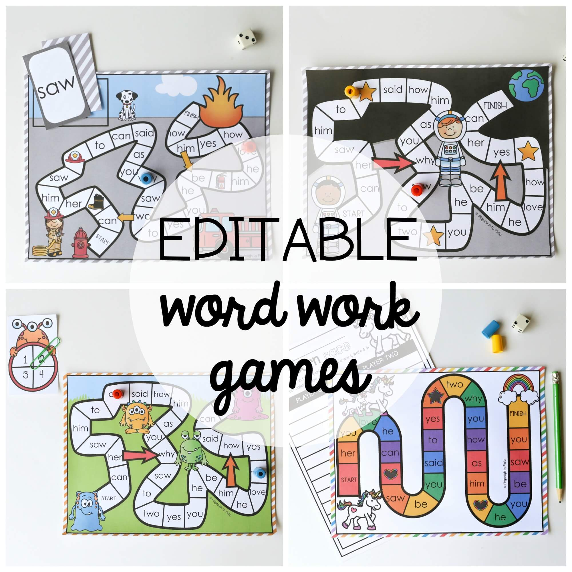 Workout Games: 15 Word Work Board Games