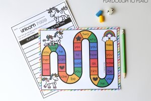 Unicorn Sight Word Game