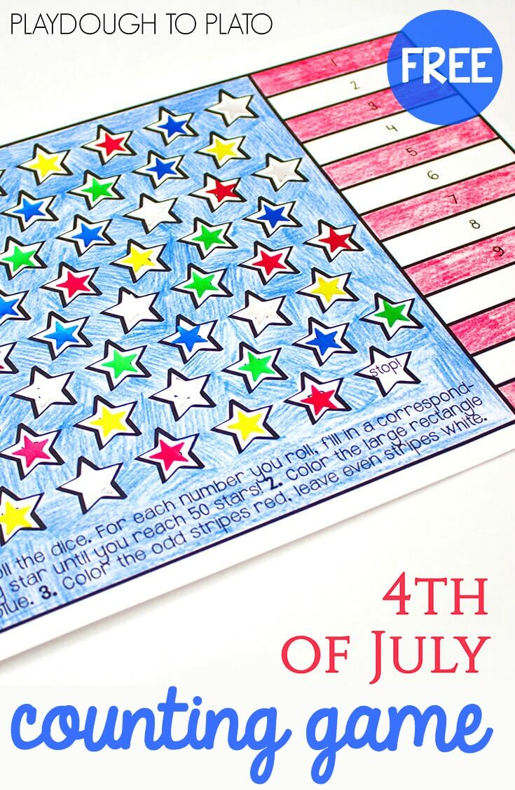 4th of July Counting Game