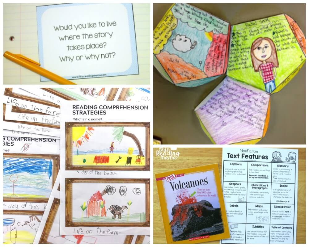 Workbooks text features reading comprehension worksheets : Reading Comprehension Activities - Playdough To Plato