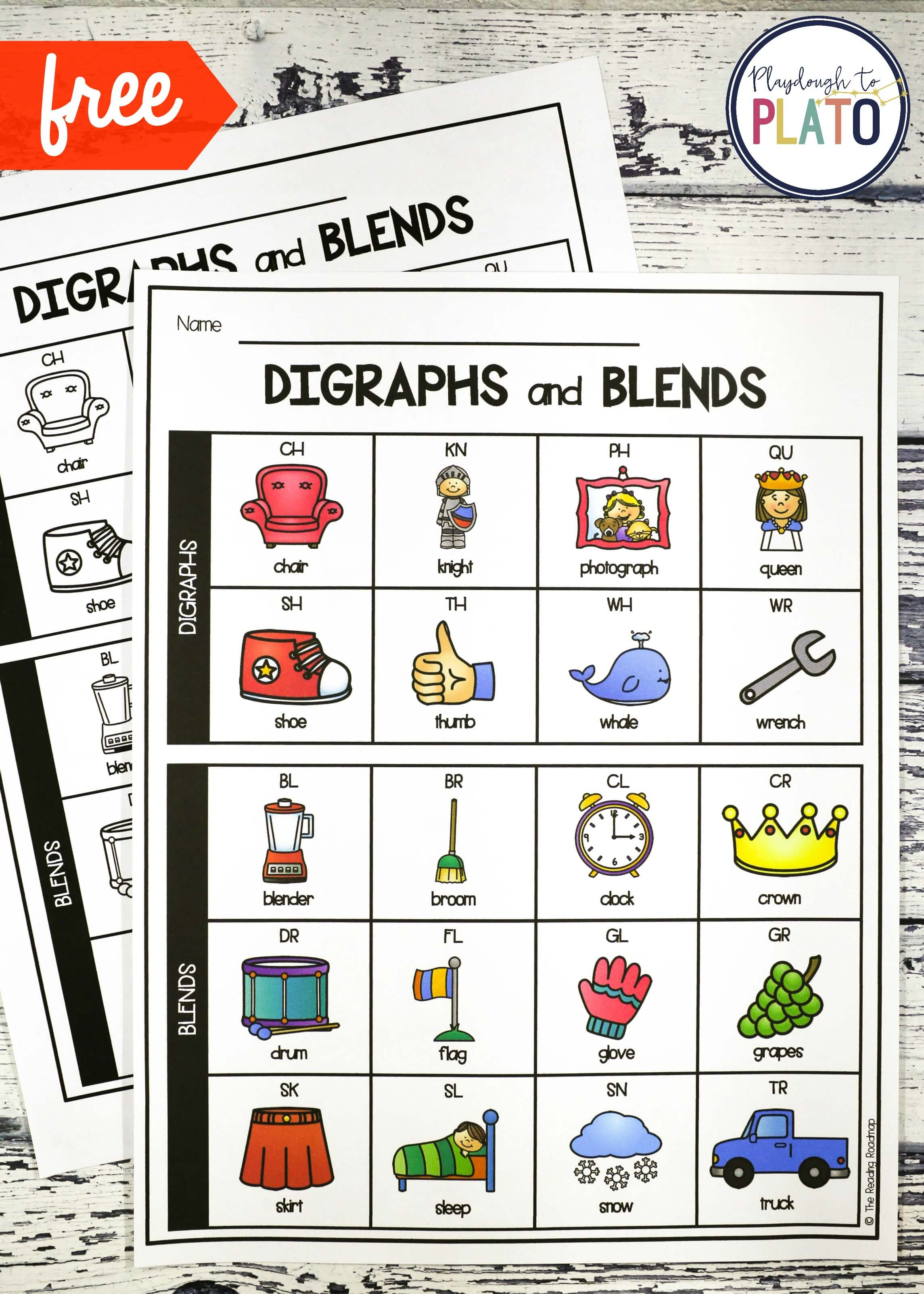 Digraph and Blend Chart - Playdough To Plato
