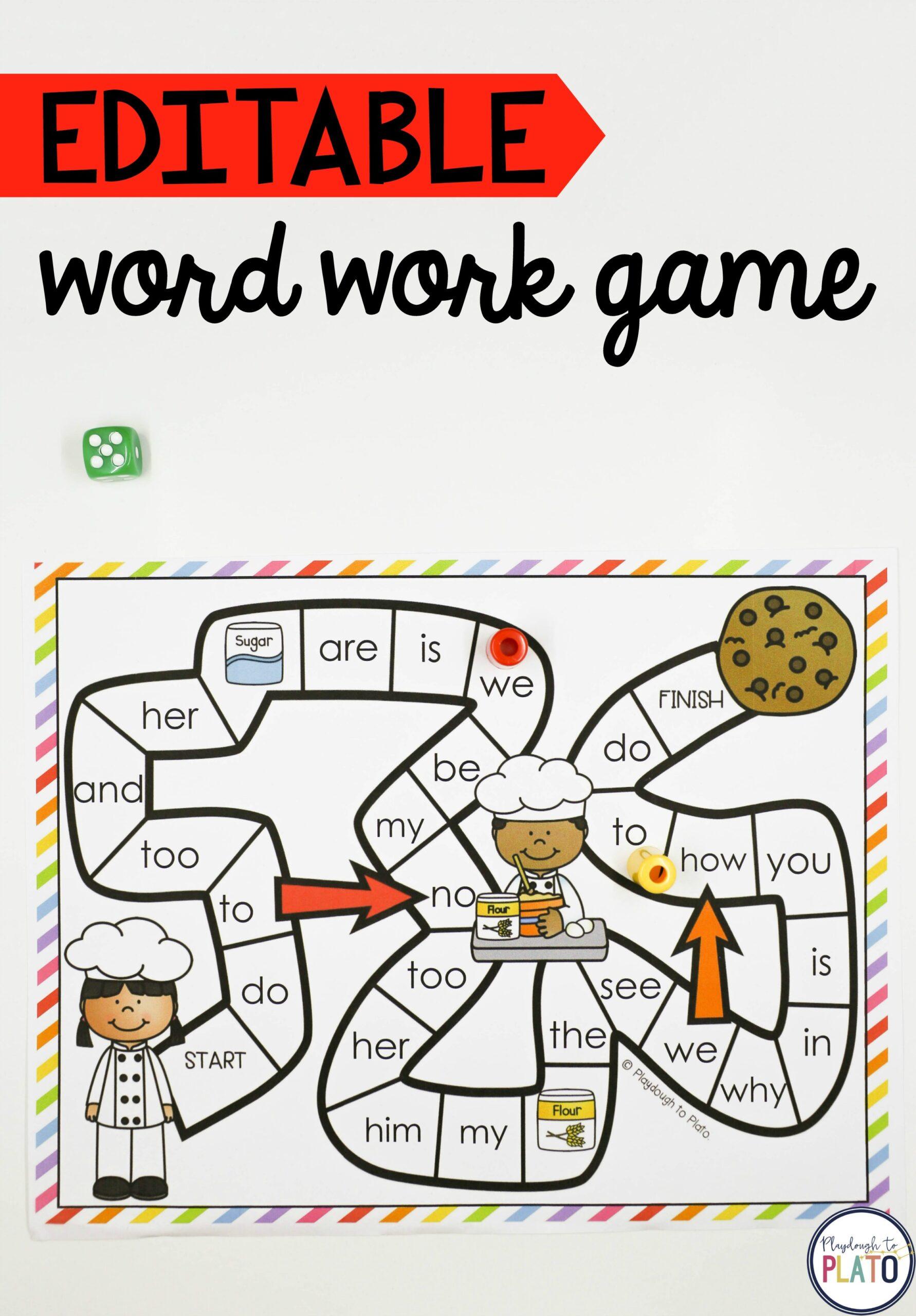 Cookie Word Work Game