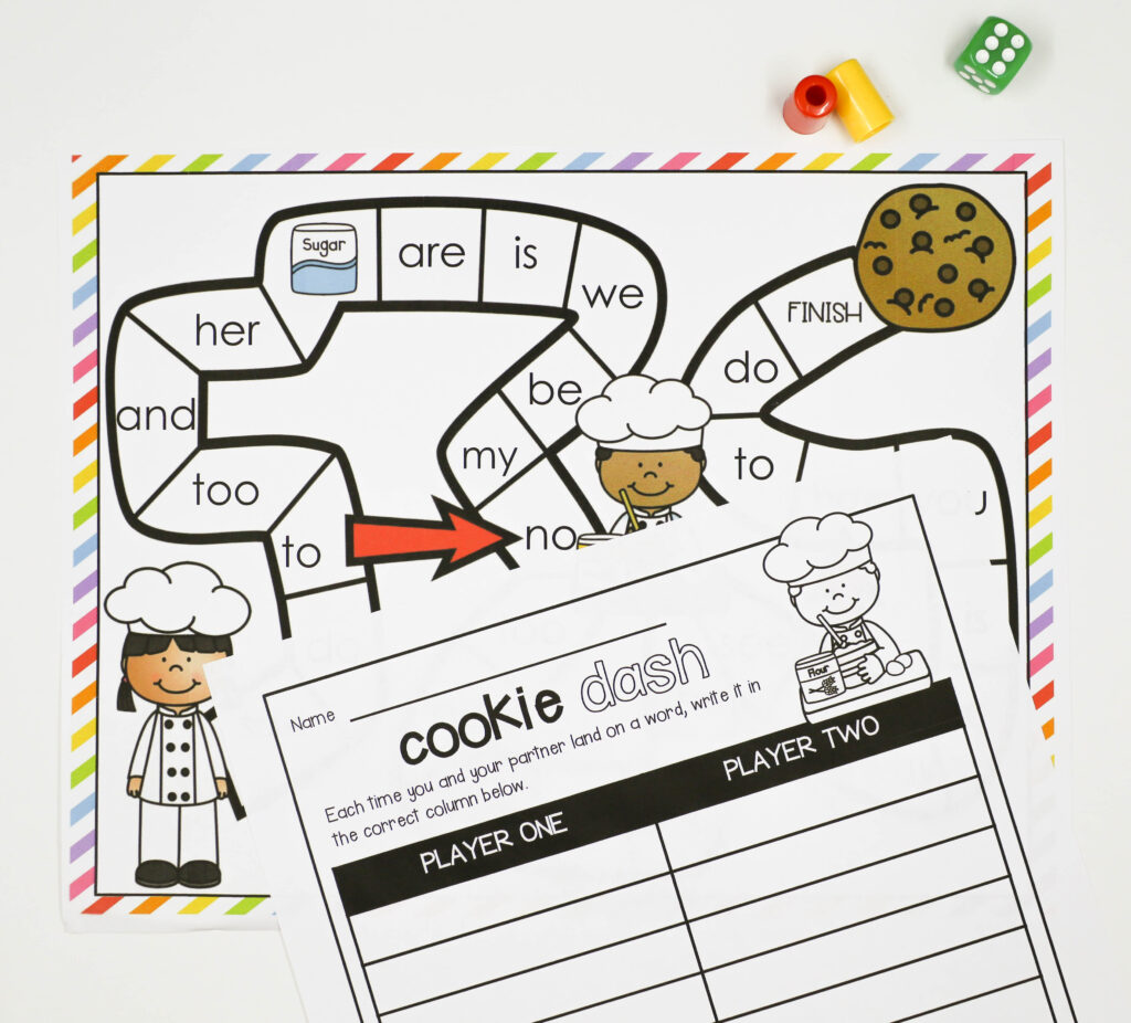 Editable Cookie Word Work Game by Playdough to Plato