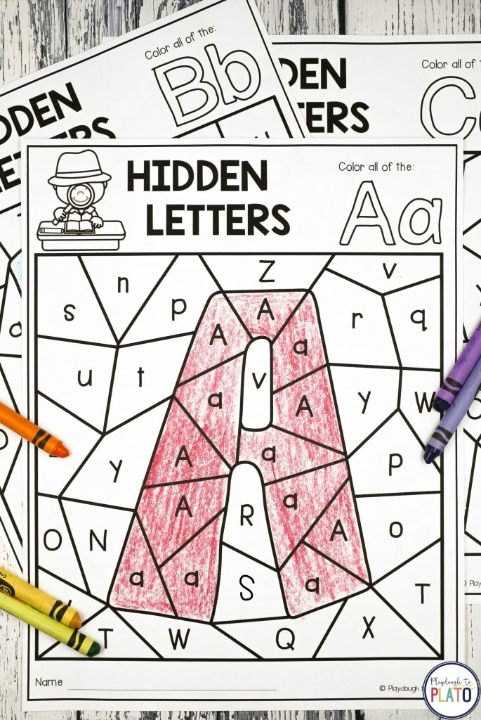 Coloring Pages Hidden Letters : Pre k centers playdough to plato
