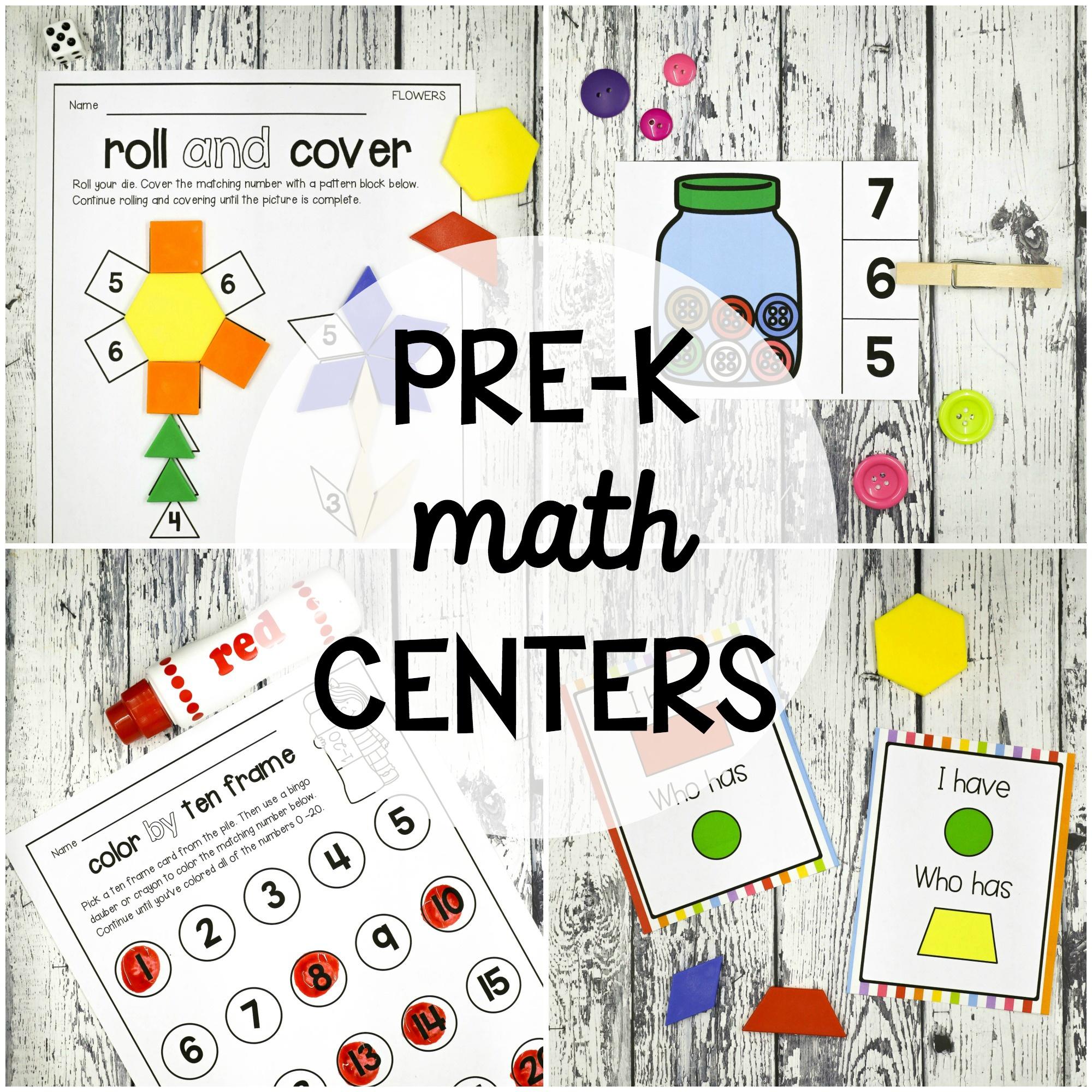 25 Pre-K Math Centers - Playdough To Plato