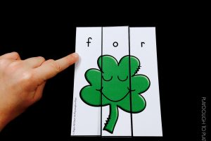 Shamrock Sight Word Puzzles