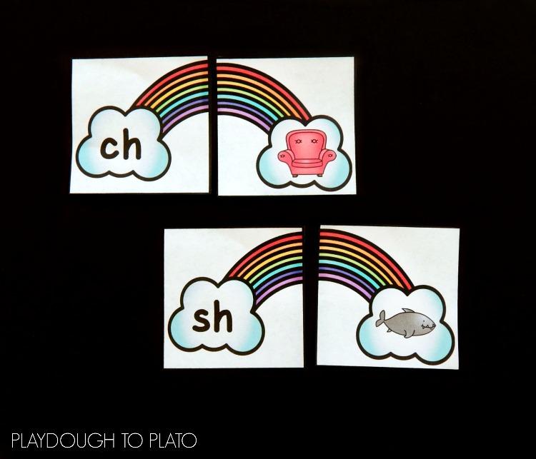 Rainbow Digraph Puzzles Playdough to Plato