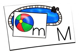 Pool and Beach Ball Alphabet Match