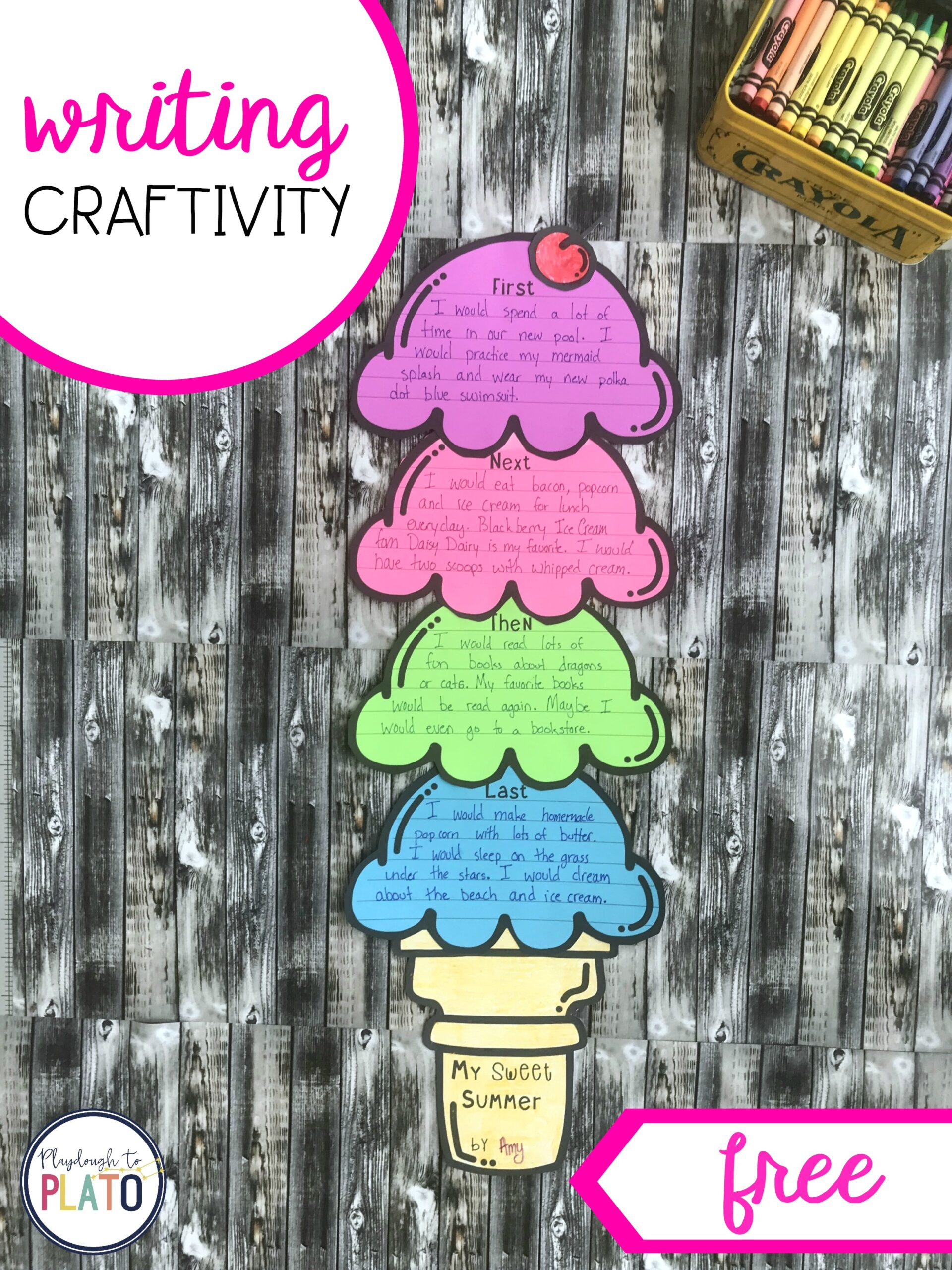Ice Cream Writing Craftivity