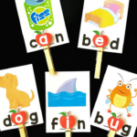 Apple Vowel Clip Cards